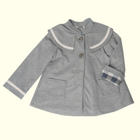 from the Little Runway : Bonjour Swing Coat #grey