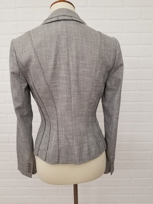 White House Black Market Tucked Lapel Suit Jacket Size 4 Small