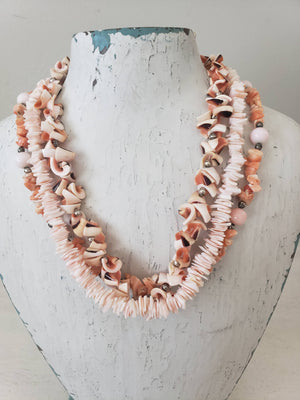 Vintage Hawaiian Shell & Coral Necklace