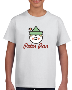 Peter Pan Kids Tee Shirt Red Letters T Shirt