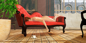 """Nude Red Chaise"" - 2012"
