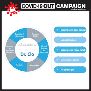 Dr.CLO - FDA registered disinfecting and sterilizing air purification stick for home, office or automobile. Made in Korea.