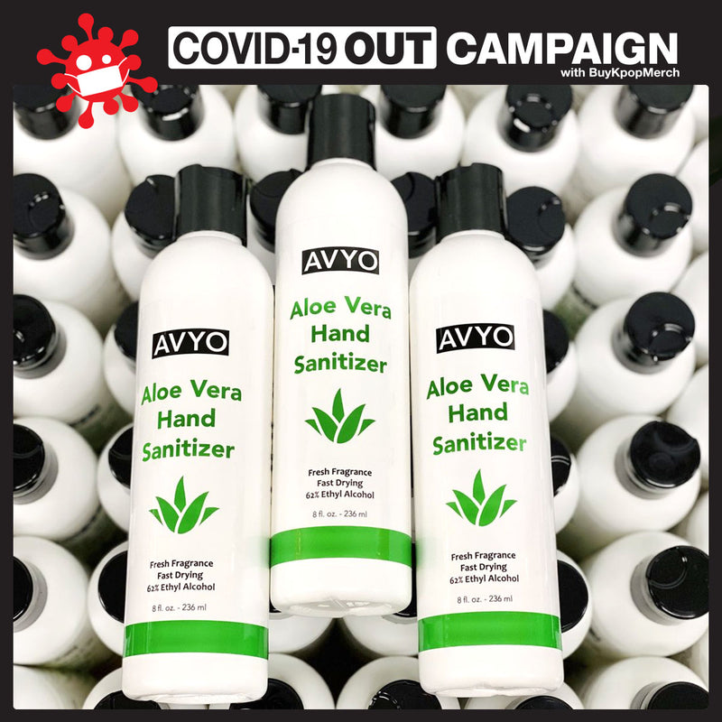 Aloe Vera Hand Sanitizer | Ethyl Alcohol 62% | Gel | Made in USA | AVYO