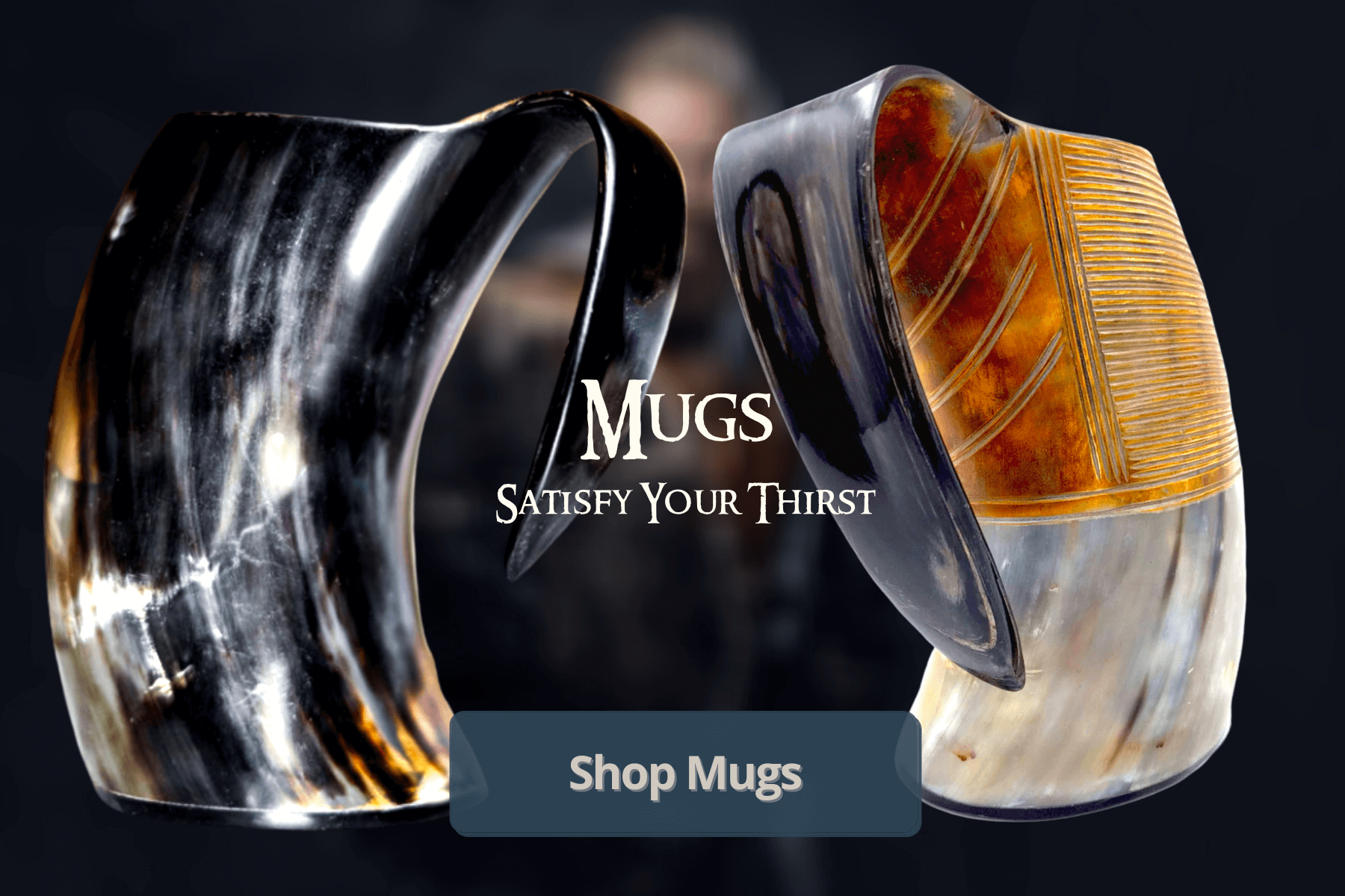 get the best selling viking drinking tankards, mugs and steins in the USA. select from carved horns, large drinking horns, extra large drinking horns and XXL drinking horns and mango wood horns