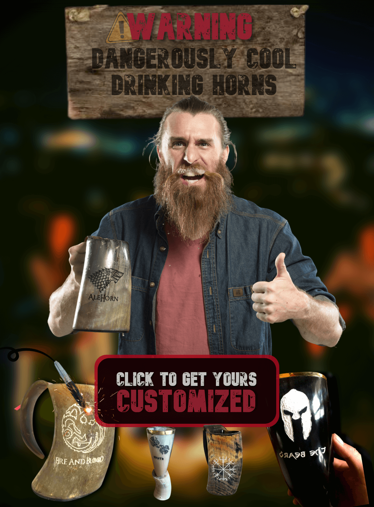 100% ethical ox viking drinking horns. The norse tradition of drinking beer, mead and wine from a real tankard, curved viking horn or shot glass. get horn holsters and norse accessories to go with your drinking mugs