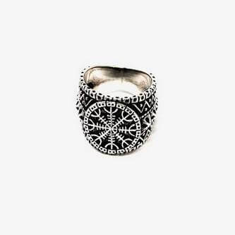 Helm of Awe Premium Silver Ring