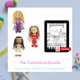 Choose 1 Doll + E-Coloring Book = The Coloratura Bundle