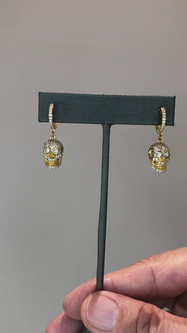 Skull - Diamond Pavé Earrings