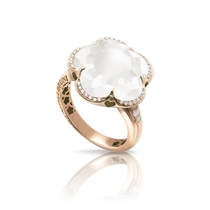 Milky Quartz Bon Ton Ring