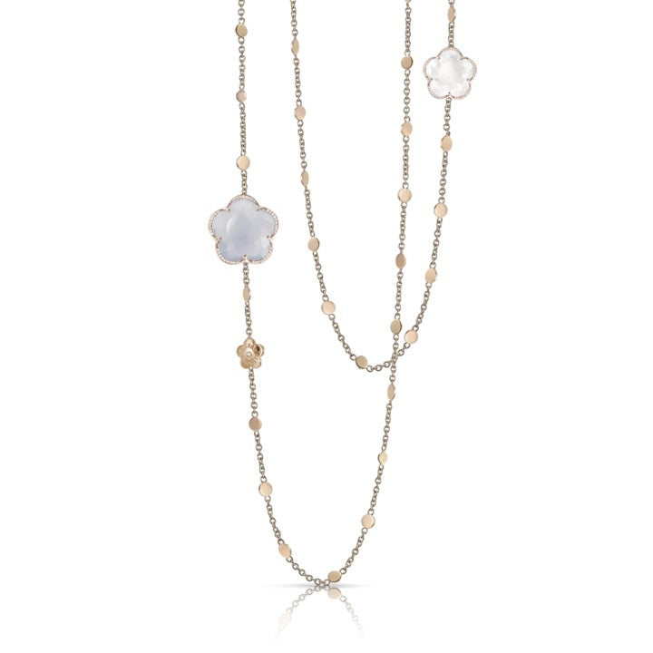 Chalcedony and Milky Quartz Bon Ton Necklace