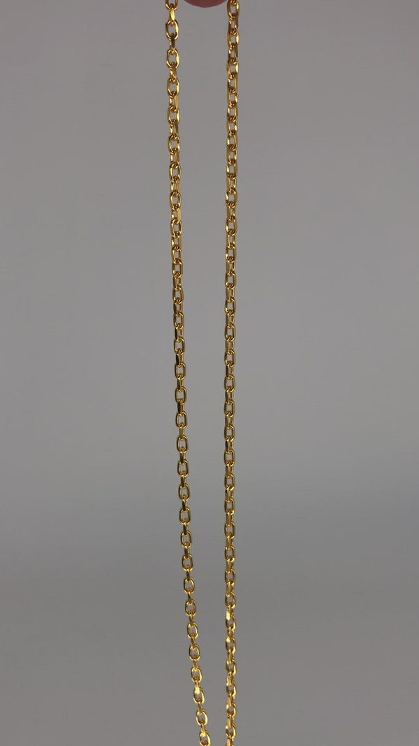 Cable Chain - Diamond Cut Necklace