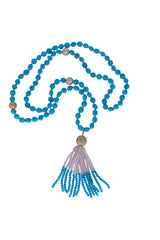 Mala - Sleeping Beauty Turquoise With Tassel Pendant