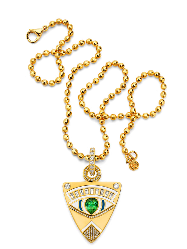 Evil Eye - Gold Guitar Pick Pendant