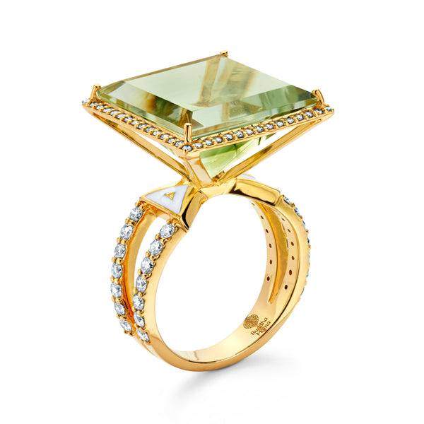 Green Beryl - Square Ring
