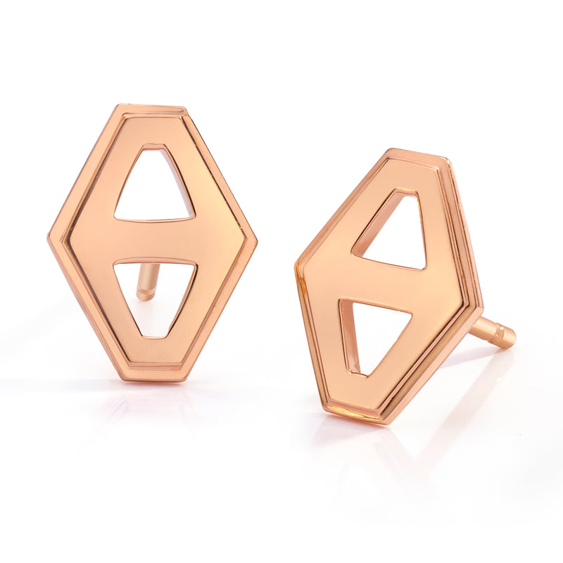 Small Signature Hex Earrings