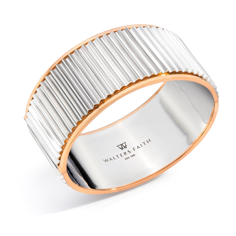 Wide Fluted Bangle
