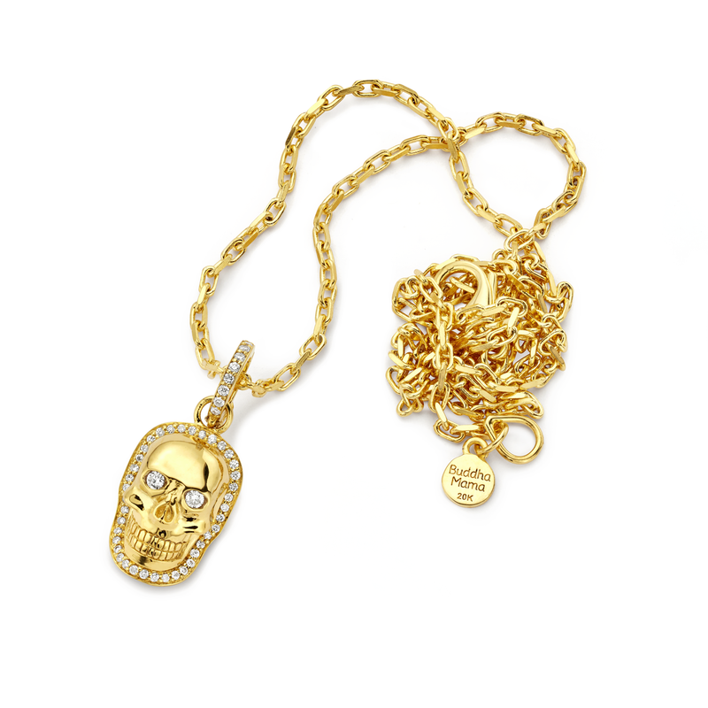 Skull - Gold Small Pendant