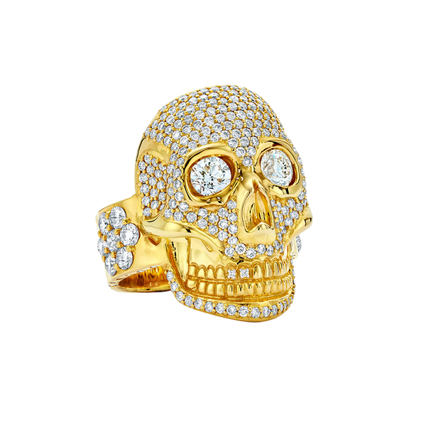 Skull - Diamond Pavé Ring