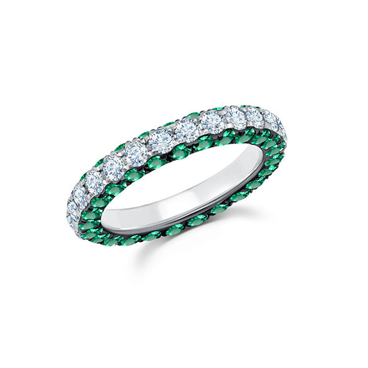 3 Sided Emerald Ring