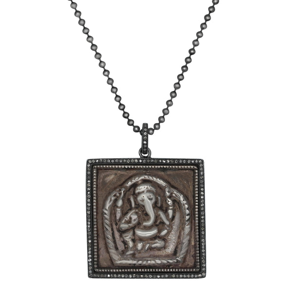 Ganesha Diamond Pendant with Chain