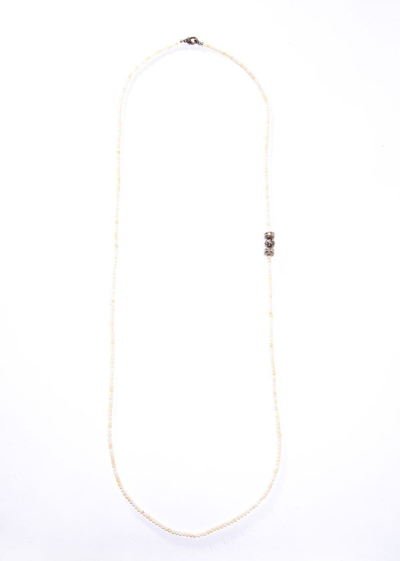 Faceted Opal Beads w/ Pave & Baguette Diamonds #9432-Necklaces-Gretchen Ventura