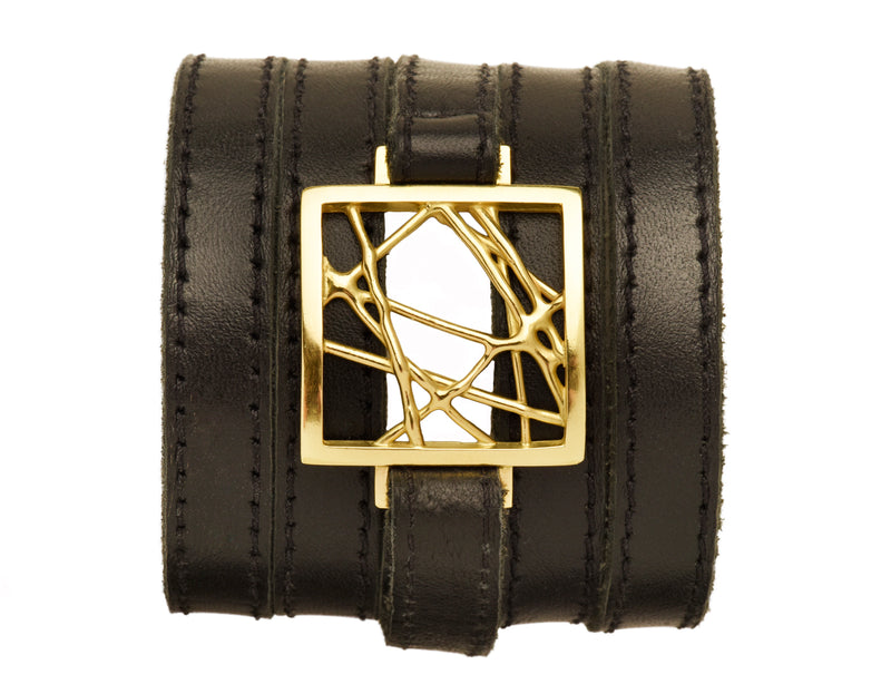Leather Abstract Wrap Bracelet