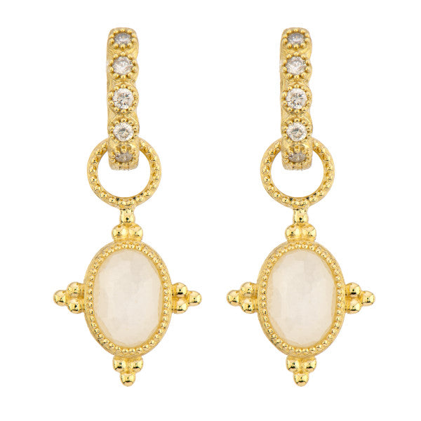 Provence Oval White Moonstone Earring Charms
