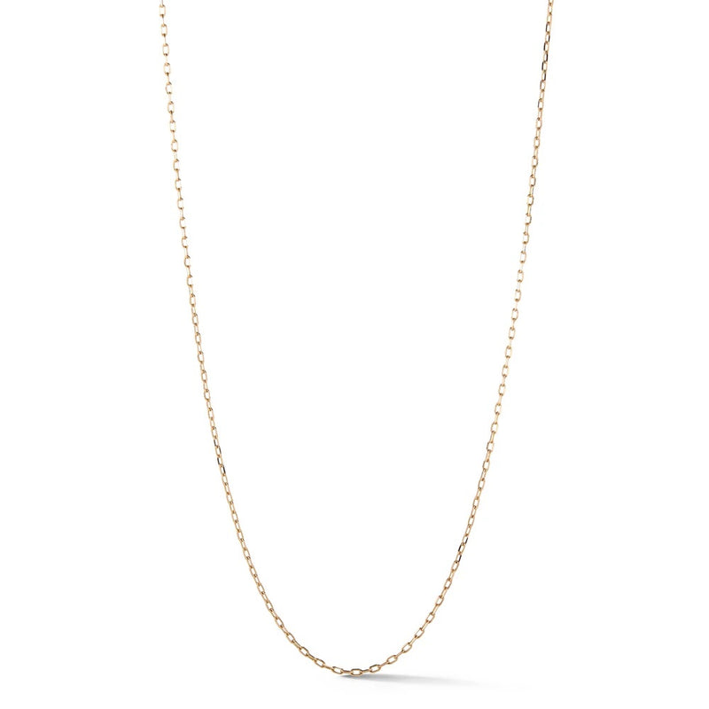 18 Inch 18K Rose Gold 1.50mm Chain Necklace