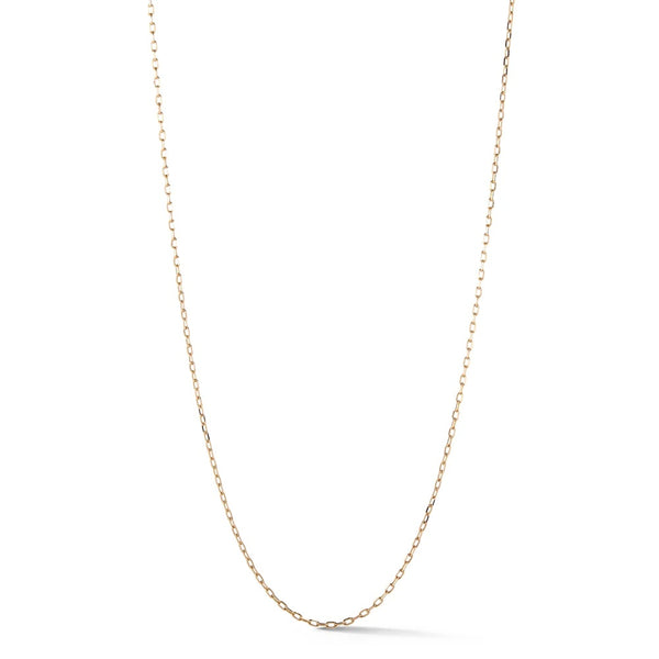 18 Inch 18K Rose Gold 2.10mm Chain Necklace