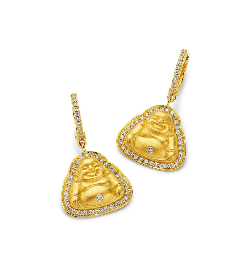 Buddha - Small Matte Earrings