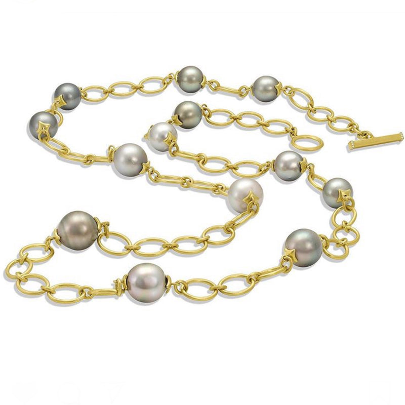 Bahari Link Necklace -Tahitian Pearls