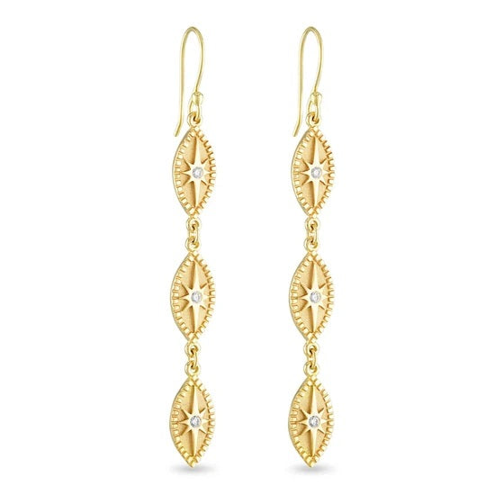 Triple Marquise Earring, Diamond