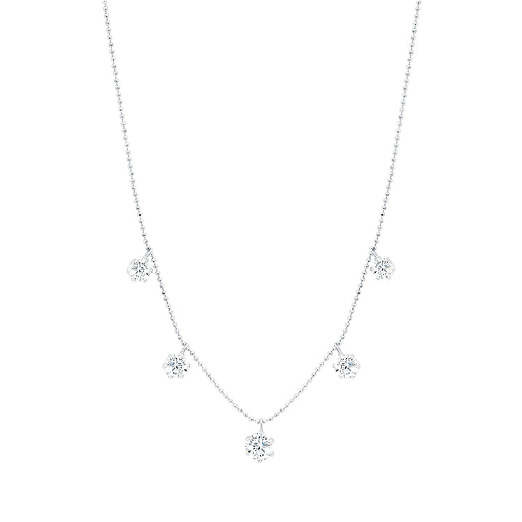 Large Floating Diamond Necklace