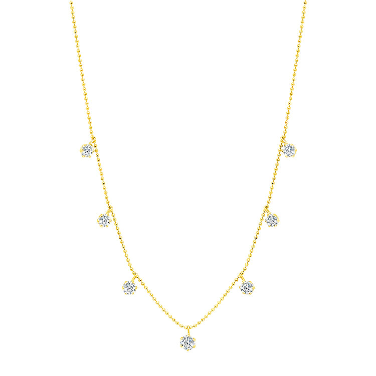 Medium Floating Diamond Necklace