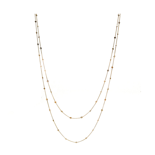 Diamond by the Yard Long Necklace in 18K Gold