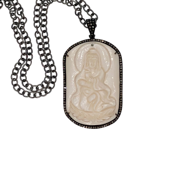 Sterling Silver Bone Tara Pendant with Chain