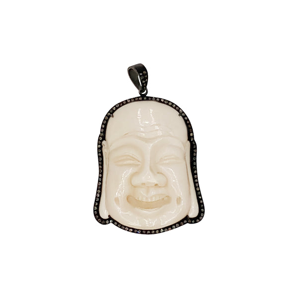 Sterling Silver and Bone Buddha Pendant