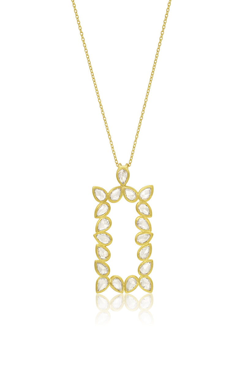 Bahari Necklace - Rose Cut Pear Shaped Diamonds