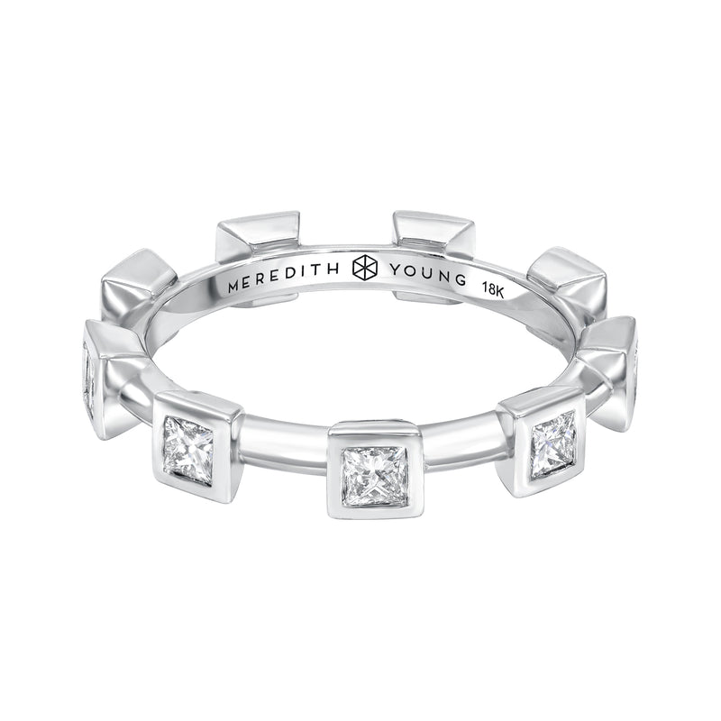 Bezel Set Princess Cut Diamond Ring