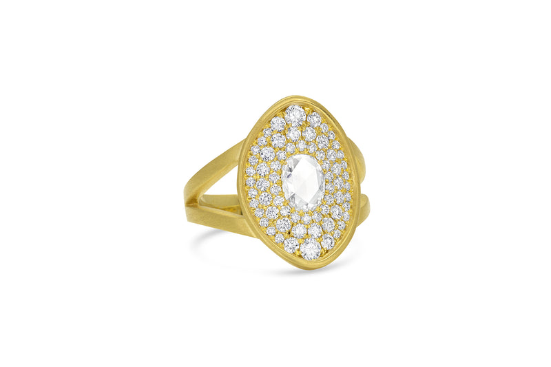 Amani Ring - Diamond Pavé Saddle