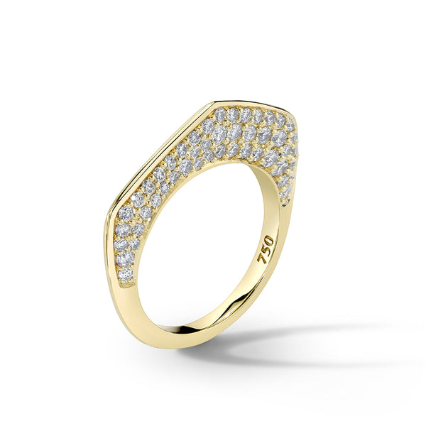 Plique-á-Jour - Cobra Gold Diamond Ring