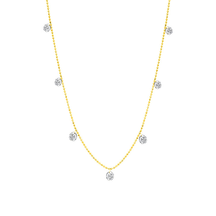 Small Floating Diamond Necklace