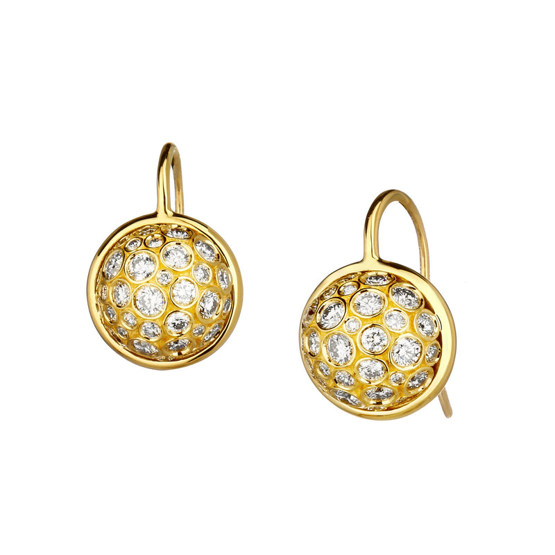 Cosmic Diamond Ball Earrings