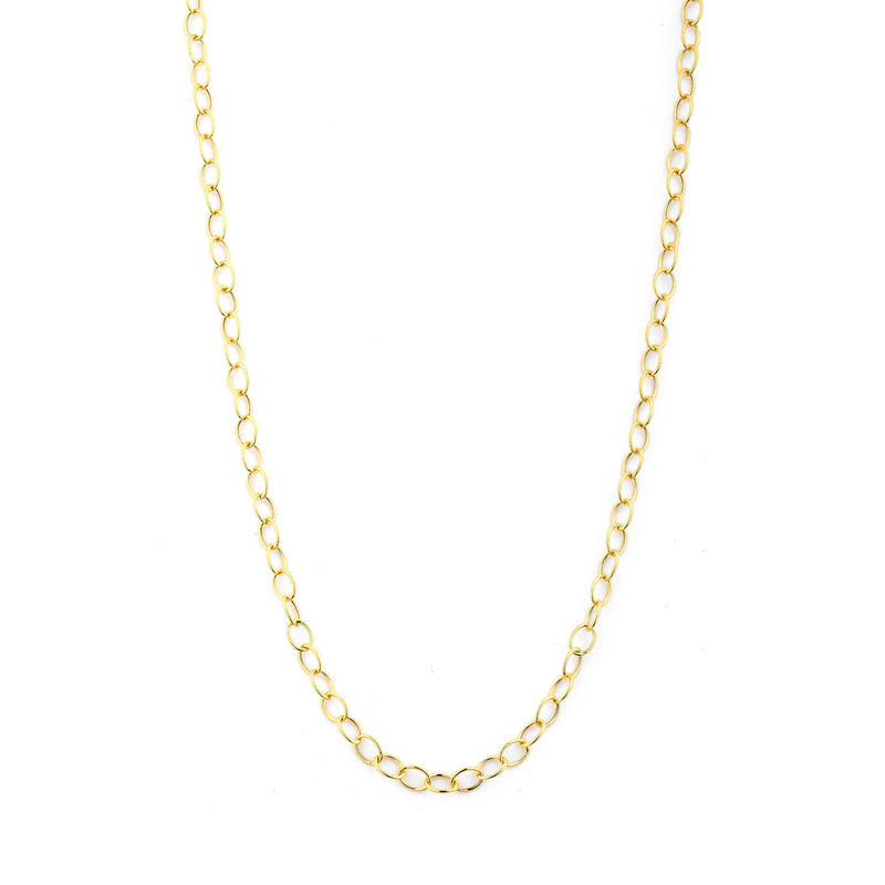 30 inch 18K Yellow Gold 2.5mm Thin Link Chain
