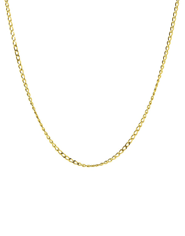 Curb Chain - Diamond Cut Necklace
