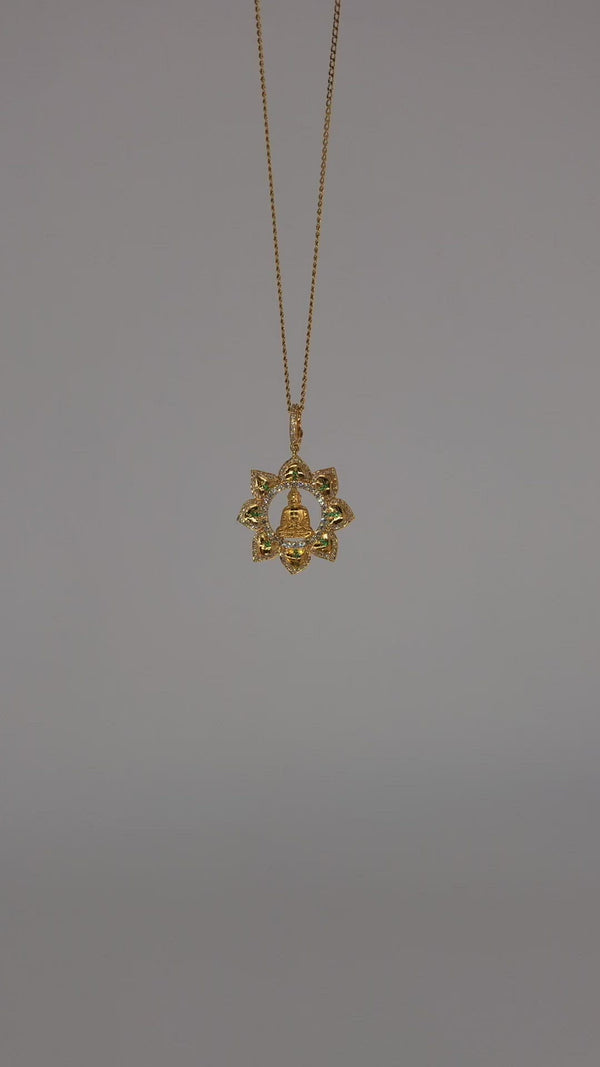 Buddha - Diamond Lotus Pendant