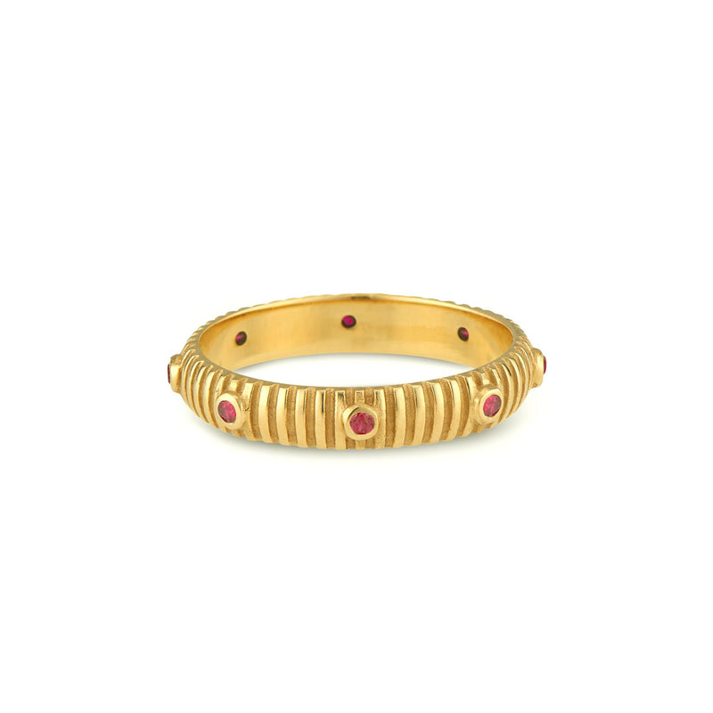Fluted Band, Ruby