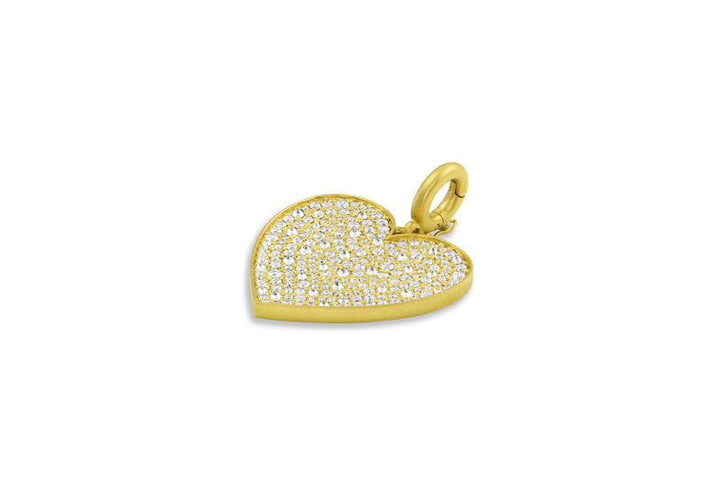 Heart Pendant - Reverse Set Diamonds