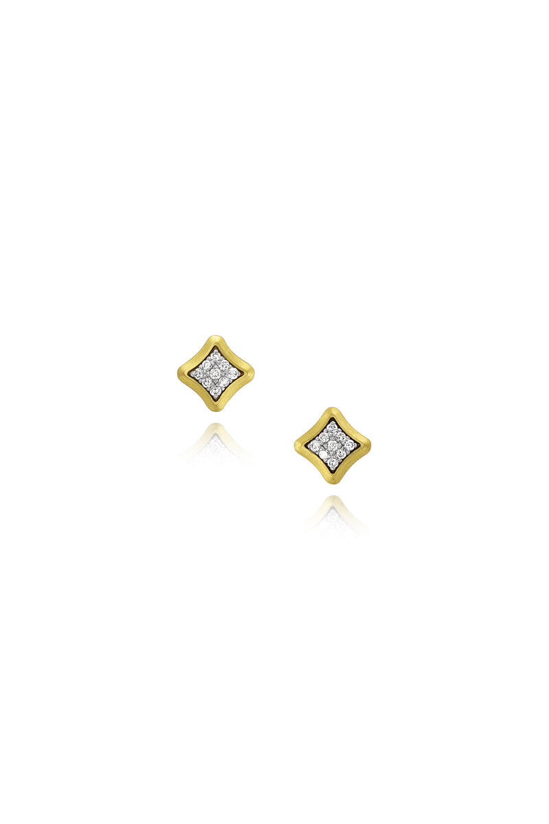 Bahari Earrings - Diamond Studs