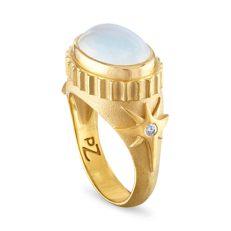 Moonstone Ring, Diamond